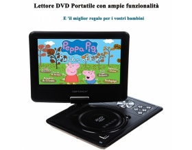 "DBPOWER 9,5"" ΦΟΡΗΤΟ DVD PLAYER MP-0337 BLACK"
