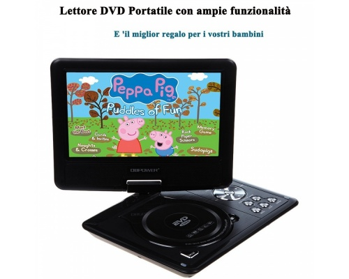 "DBPOWER 9,5"" ΦΟΡΗΤΟ DVD PLAYER MP-0337 BLACK"