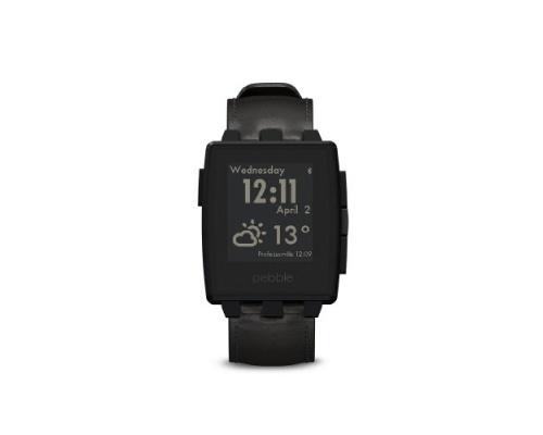 Pebble 401BLR Steel Smartwatch - Matte Black 66320
