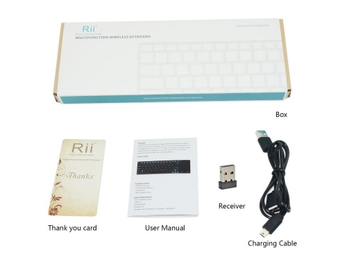 Rii Ultra Slim K12+ 2.4Ghz Mini Wireless Keyboard