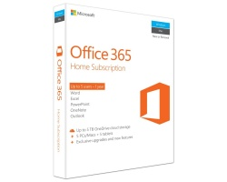 Microsoft Office 365 365 Home 5 Users, 1 year English