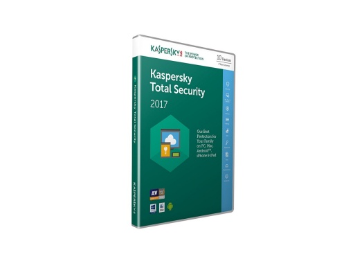 Kaspersky Total Security 2017 (5 Devices, 1 Year) Retail Box (PC/Mac/Andro