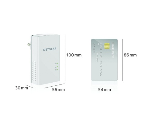 Netgear PL1200-100PES 2 Powerline Ethernet Bridge