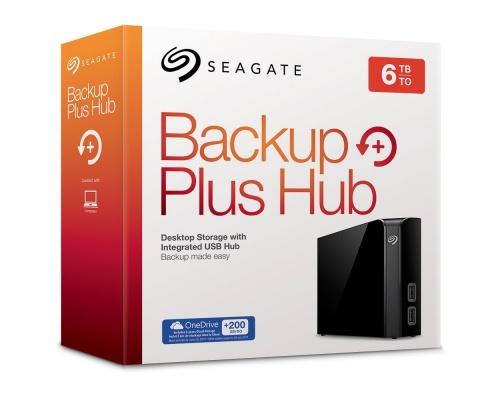 "Seagate Backup Plus Hub 6TB USB 3.0 Desktop, 3.5"" STEL6000200"