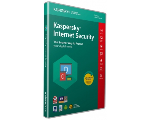 Kaspersky Internet Security 2019 (3 Devices, 1 Year) Retail Box (PC/Mac/Android)
