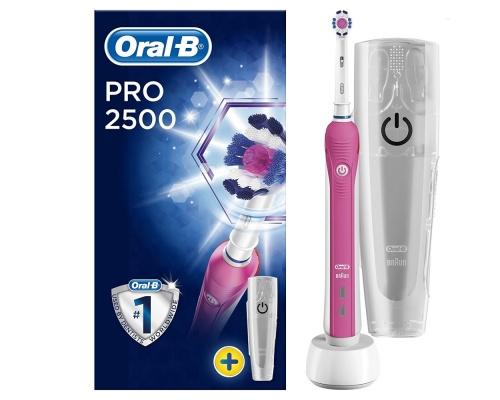 BRAUN Oral-B Pro 2500 Pink + Travelcase