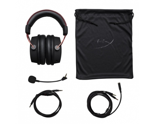 HyperX Cloud Alpha Gaming Headset - Black / Red [HX-HSCA-RD/EM]