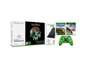 Microsoft Xbox One S 1TB & Sea of Thieves Bundle & Vertical Stand/Forza Horizon 3/Minecraft Explorers Pack/Wireless Controller Minecraft Creeper