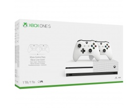 Microsoft Xbox One S 1TB & 2x Xbox Wireless Controller