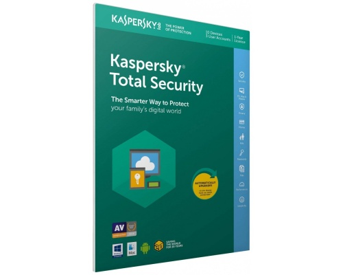 Kaspersky Total Security 2019 (5 Devices, 1 Year ) Retail Box (PC/Mac/Andro