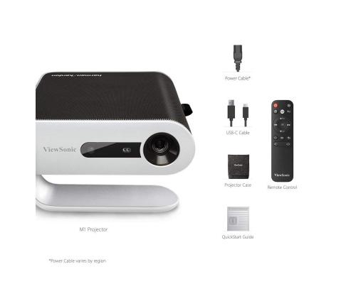 ViewSonic M1+, 854 x 480, 120000:1 Contrast, 300 LED Lumens, HDMI, USB, WiFi+BT, White (M1+)