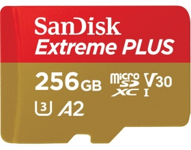 Sandisk 256GB Extreme Plus microSDXC memory card Class 10(SDSQXBZ-256G-GN6MA)