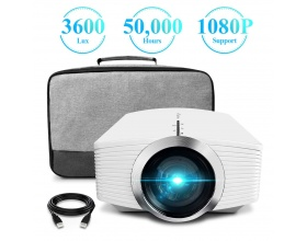 ELEPHAS G500W 3600 Lux LCD Mini Video Projector 1080P