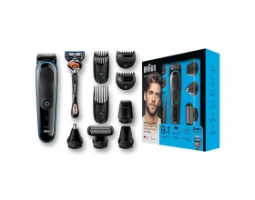 Braun MGK5080 9-in-1 trimmer All-in-one trimmer με 7 εξαρτήματα και ξυράφι Gillette Fusion5 ProGlide.