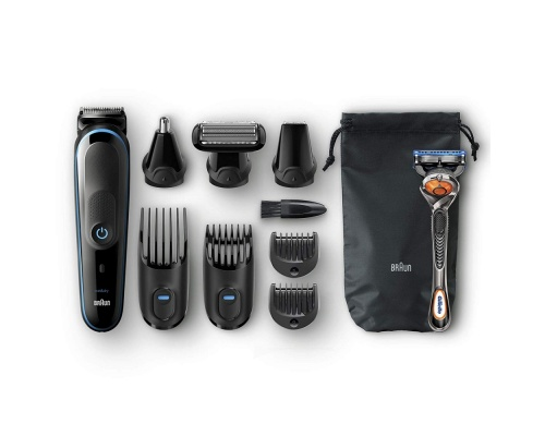 Braun MGK5080 9-in-1 trimmer All-in-one trimmer με 7 εξαρτήματα και ξυράφι Gillette Fusion5 ProGlide.