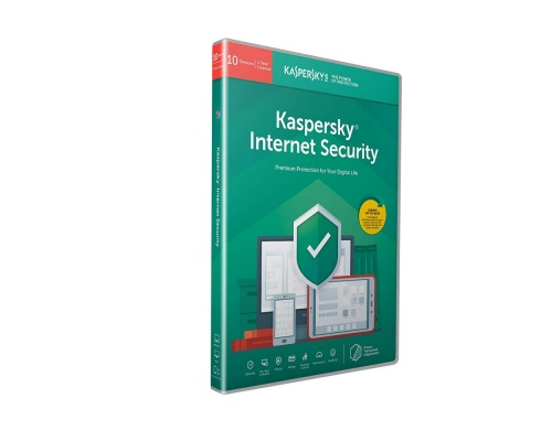 Kaspersky Internet Security 2020 (10 Devices, 1 Year) Retail Box (PC/Mac/Android)