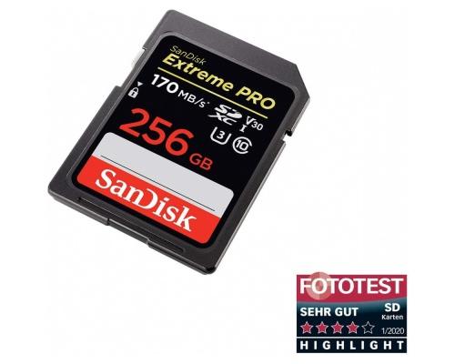Sandisk Extreme Pro SDXC 256GB U3 V30 (170MB/s)