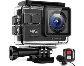 "Apeman A79 4K Action Camera 20MP WiFi Αδιάβροχη 40Μ 2"" Οθόνη, 170° Οπτικό Πεδίο"