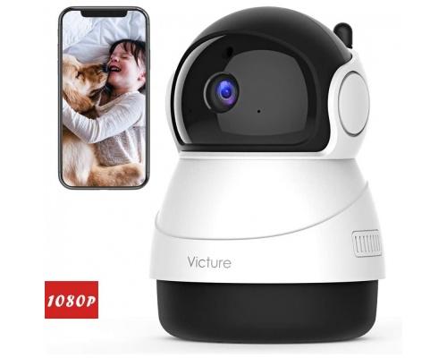 Victure PC540 1080P FHD WiFi IP Camera Baby Monitor White