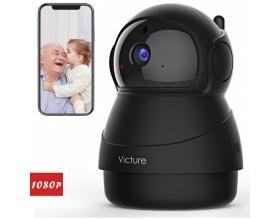 Victure PC540 1080P FHD WiFi IP Camera Baby Monitor Black