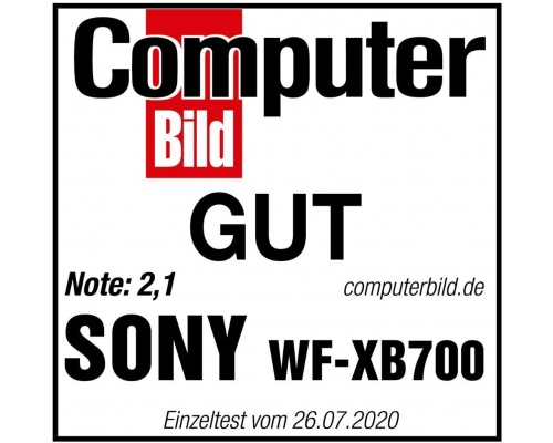 Sony WFXB700 Truly Wireless Bluetooth Headphones Black