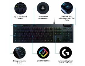 Logitech G815 Lightsync RGB (GL Tactile) UK Layout