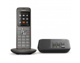 Gigaset CL660A, analog phone, gray / black, with box 200 answering machine (S30852-H2824-B111)