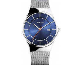 Mens Analogue Quartz Classic Collection Watch with Stainless Steel Bracelet and Sapphire Glass 12939007