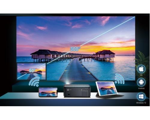 WiMiUS K1 1080P 8500 Lumen Projector 5G WiFi